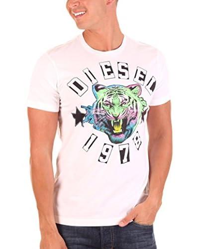 Diesel Camiseta Manga Corta King Blanco