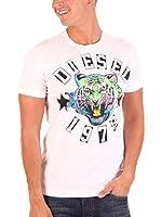 Diesel Camiseta Manga Corta King (Blanco)