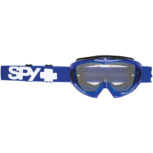 Spy Optic Blue Crystal Targa II Motocross Motorcycle Goggles Eyewear - Color: Clear/Anti-Fog With Posts, Size: One Size Fits All