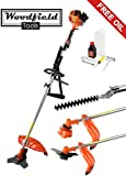 Woodfield 52CC 3 in 1 Multi-Tool - Brush Cutter, Hedge Trimmer and Strimmer
