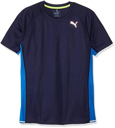 Puma-Maglietta da corsa a maniche corte, modello: Peacoat/Blu, taglia L