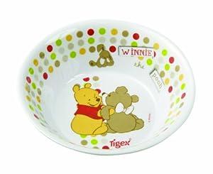 Tigex 80800122 - Bol de melamina, diseño Winnie the Pooh, color blanco en BebeHogar.com