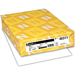 Neenah Exact Index Card Stock, 8.5 x 11 Inch, 90 lb, White, 250 Sheets (40311)