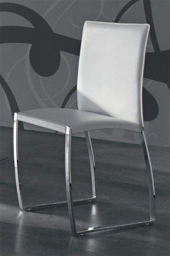 Barato pack de dos sillas de comedor tapizadas en piel for Pack sillas comedor