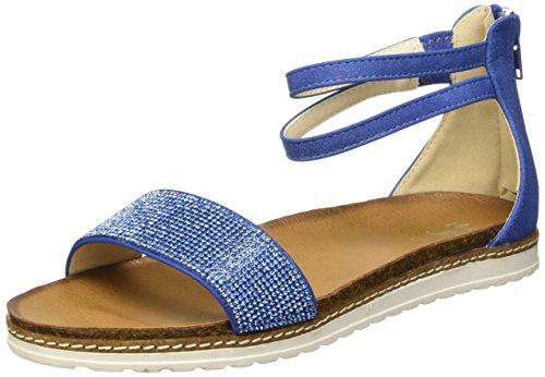 Mini B 3619161 Sandali con cinturino alla caviglia, Bambine e ragazze, Blu, 34