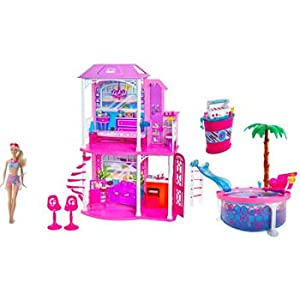 Amazon.com: Barbie Ultimate Beach House Party! Glam Pool, BQQ, Doll