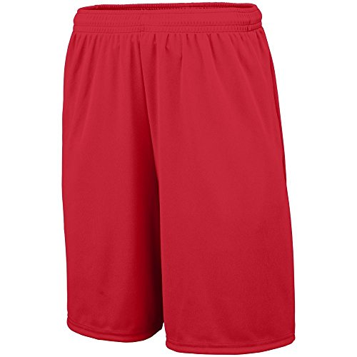 Augusta Sportswear 1429 Youth's Training Short With Pocket Red L
