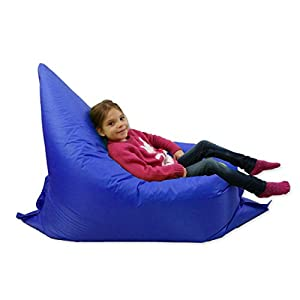 Kids BeanBag Large 6-Way Garden Lounger - GIANT Childrens Bean Bags Outdoor Floor Cushion BLUE - 100% Water Resistant by Home And Garden