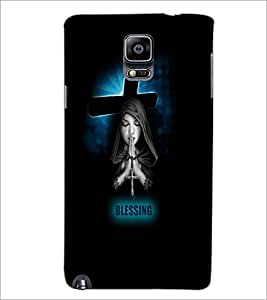 PrintDhaba Praying Girl D-3515 Back Case Cover for SAMSUNG GALAXY NOTE 3 (Multi-Coloured)