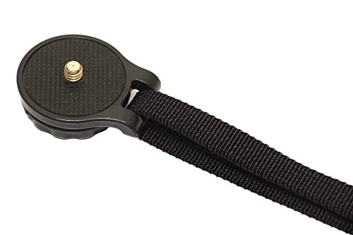 shopk2z (ショップケーツージー)  smartZストラップ カメラや三脚に 三脚ネジ穴にて脱着簡単 三脚の同時使用も可能なリストストラップ (9.ブラック薄型)