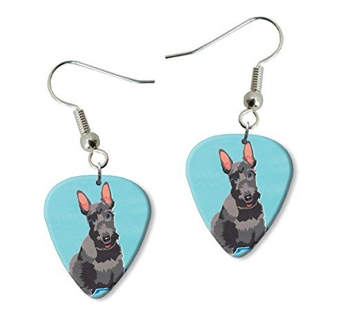 scottie-scottish-terrier-martin-wiscombe-guitare-mediator-pick-boucles-doreilles-earrings-vintage-re
