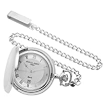 Charles-Hubert, Paris Sterling Silver Quartz Pocket Watch