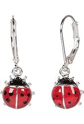 Heirloom Finds Enamel Ladybug Dangle Earrings