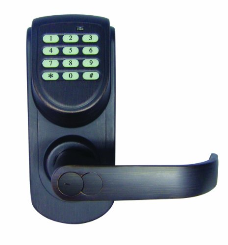 Design House 702969 Keypad Entry With Lever Set With Right Hand Mount, Brushed Bronze Finish