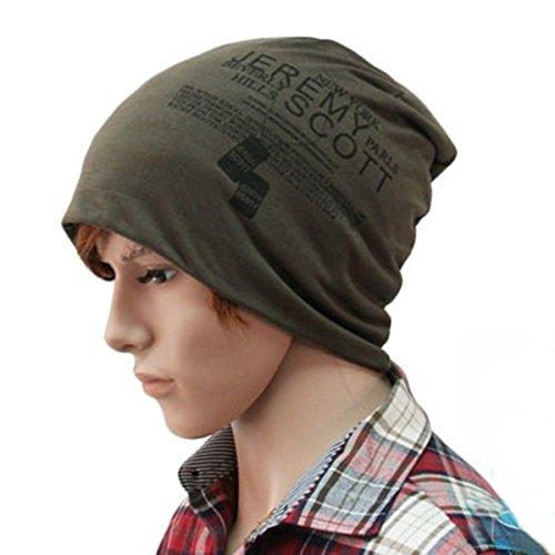 Cappello Beanie Cuffia Lunga Unisex Berretto Cap (Verde militare)