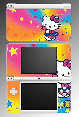 Cute Kitty Rainbow Stars Girl Game Vinyl Decal Cover Skin Protector 10 for Nintendo DSi XL