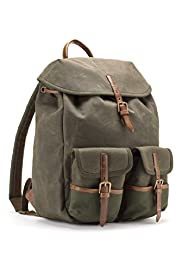 Pure Cotton Waxed Rucksack Bag