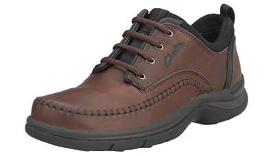 Clarks Men's Portland Oxford, Brown Leather, 6 M