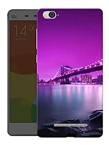 "Humor Gang New York Bridge At Night Printed Designer Mobile Back Cover For ""Xiaomi Redmi Mi4i"" (3D, Matte, Premium Quality Snap On Case)"