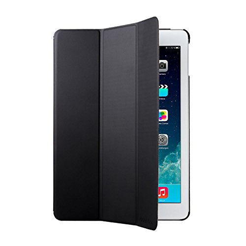 Adento Ipad Air (Ipad 5) Smart Case In Black Pu Leather - Smart Cover And Stand With Automatic Wake / Sleep & Back Case To Protect Apple Ipad Air (Ipad 5) - Includes 2-Year Limited Warranty