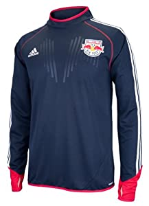 New York Red Bulls Adidas MLS Training Performance Long Sleeve Jersey Top - Navy by adidas