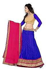 Pushty Fashion Blue and Pink net Lehnga