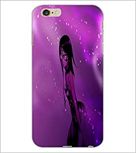 PrintDhaba Stylish Girl D-4008 Back Case Cover for APPLE IPHONE 6 PLUS (Multi-Coloured)