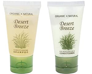 Desert Breeze Conditioner and Shampoo Lot of 18 (9 of each) 1oz Bottles