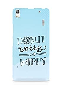 AMEZ donut dont worry be happy Back Cover For Lenovo K3 Note