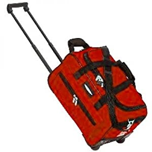 18 Jeep Cabin Approved Trolley Bag Wheeled Luggage Bag Hand Luggage Red by Jeep