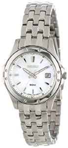 Seiko Women's SXDE09 Stainless Steel Analog with Mother-Of-Pearl Dial Watch