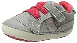 Stride Rite SRT SM Goodwin Shoe (Infant/Toddler),Grey/Red,3 W US Infant