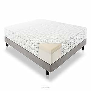 LUCID 14 Inch Memory Foam Mattress - Triple-Layer - 5.3 Pound Density Ventilated Memory Foam - CertiPUR-US Certified - 25-Year Warranty - Queen