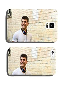 buy Young Man In Urban Background Listening To Music With Headphones Cell Phone Cover Case Iphone6