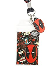 Marvel Deadpool Comic Talk Bubbles Lanyard