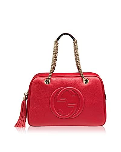 Gucci Women's Leather Satchel, Red