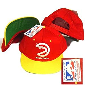 NBA ATLANTA HAWKS OLD SCHOOL SNAP BACK HAT CAP VINTAGE by Drew Pearson Companies