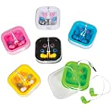 Colored Earbuds With Case, Case Of 144