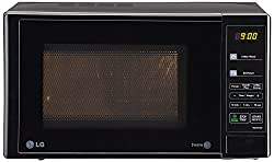 LG MS2043DB 20 Litre  Solo Microwave Oven (Black)