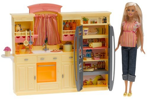 Barbie kitchen set the image kid has it for Kitchen set in amazon
