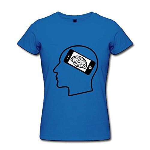 Ruifeng Ladies Cell Phone Brain T-Shirt - Xl Royal Blue