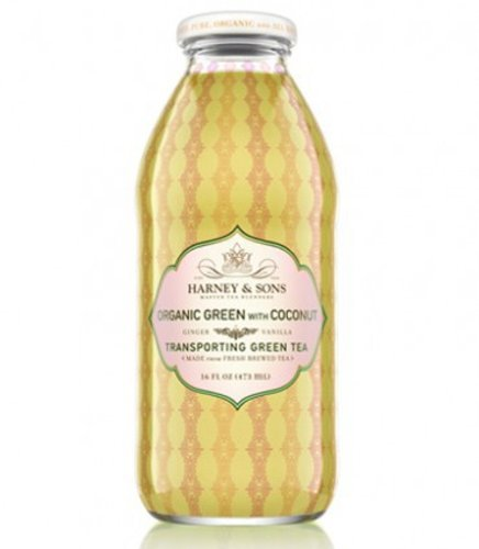 Harney & Sons Organic Green Tea With Coconut Bottled Iced Tea, 16 Ounce (Pack Of 12)