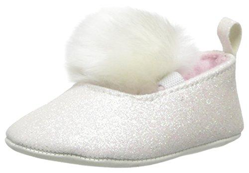 Little Me Baby-Girls Newborn Big Bow Wingtip Crib Shoe, White, 6-9 Months front-11711