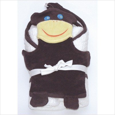 Imagen de En el marco del Nilo Bath Time Favoritos capucha toallas y set de lavado de tela, Monkey