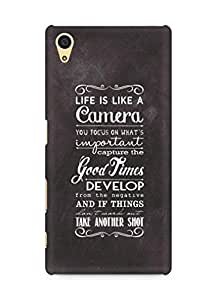 AMEZ life is like a camera Back Cover For Sony Xperia Z5