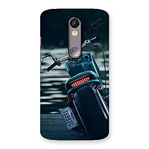 Stylish Bike Chopper Multicolor Back Case Cover for Moto X Force