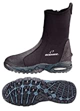 New Oceanic Neo-Classic 5.0mm Heavy Duty Molded Sole Zipper Boots for Scuba Diving & Watersports (Size 7)