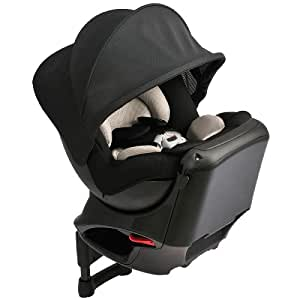 カーメイト エールベベ クルットNT2プレミアム 新生児から4歳用チャイルドシート(サンシェード付360度回転型) チャコール