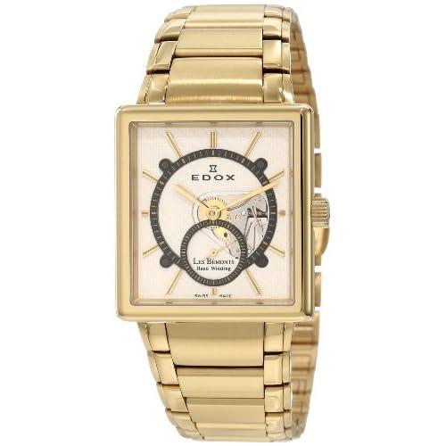 [エドックス] EDOX 腕時計 Men's Les Bemonts Gold/White Stainless Steel Watch 手巻き式 72012 37J AID メンズ [TimeKingバンド調節工具& HARP高級セーム革セット]【並行輸入品】
