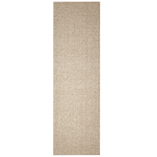 Anji Mountain Bamboo Chairmat & Rug Co. 2-Foot-6-Inch-by-8-Foot Zatar Jute and Wool Rug